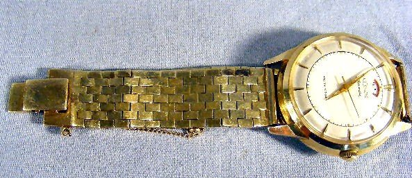 137X: 14K gold LeCoultre Master Mariner Automatic wrist - 2