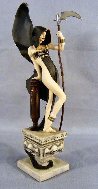 """6N: Franklin Mint """"Mistress of Death"""" porcelain figurin"""