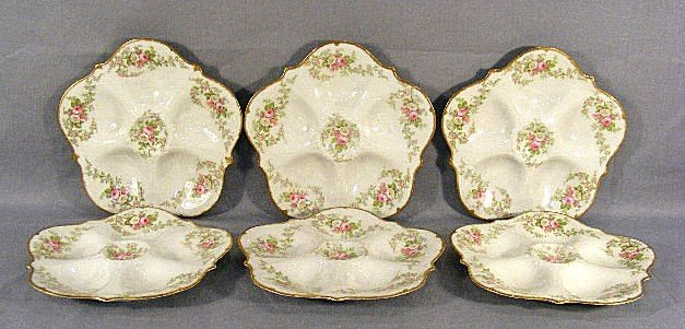 17E: Six Elite Limoges oyster plates, all in excellent