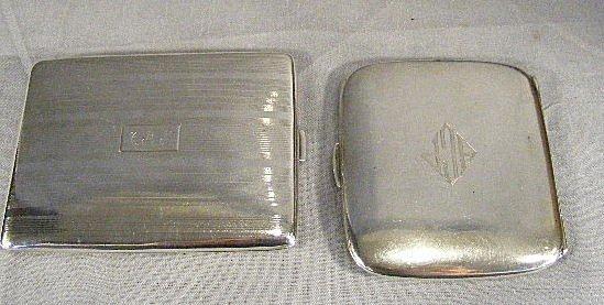 114U: 2 sterling cigarette cases, 5.36 ozt. Mono grams