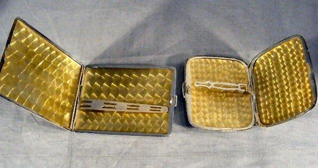 114U: 2 sterling cigarette cases, 5.36 ozt. Mono grams  - 2