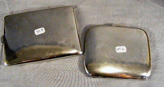 114U: 2 sterling cigarette cases, 5.36 ozt. Mono grams  - 3