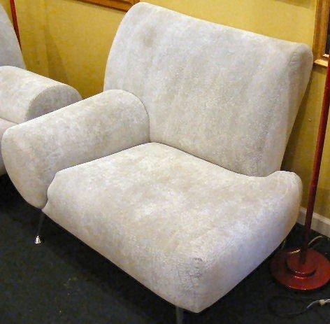119G: Tundra silver sofa & love seat by Escapade, funky - 2