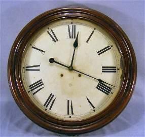 """29Z: Large antique, Ansonia gallery clock, 23"""" diameter"""