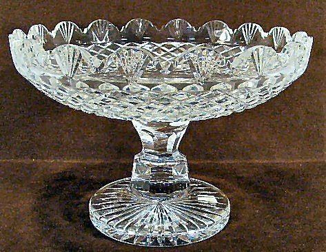 5I: Large Waterford crystal compote, footed fruit bowl