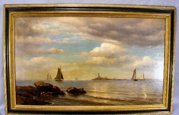 101Z: Oil painting on canvas by J.C. Nicol, Ct. and N.Y