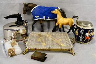 Misc. lot including 2 Breyer horses, Marzi & Remy s