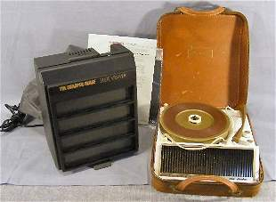 Sharper Image slide viewer and Steelman record pla