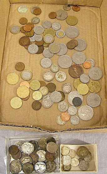 20A: Lot of coins, some foreign silver, US coins, misc.