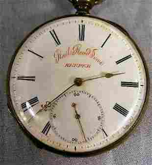 Antique Rail Road Time Keeper pocket watch, cylind