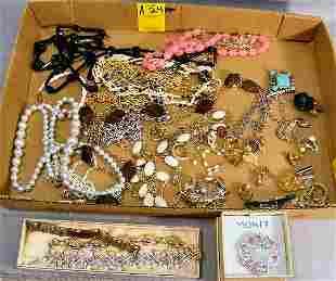 Costume jewelry, earrings, necklaces, cufflinks, p