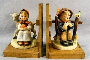 Pair Hummel bookends, no damage or crazing