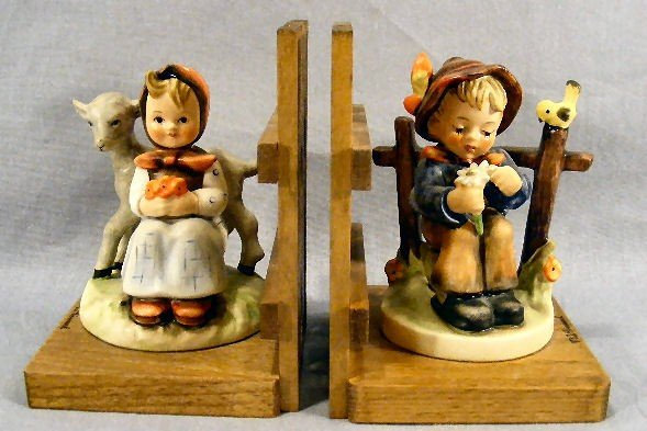 2G: Pair Hummel bookends, no damage or crazing