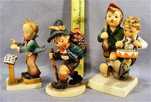 Three Hummel figurines, 129, 381 & 50/I no damage o