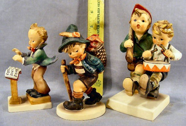 4G: Three Hummel figurines, 129, 381 & 50/I no damage o