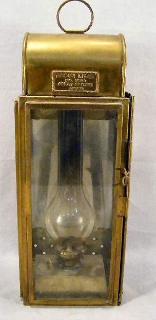 "Brass Bosun lantern dated 1926, 19"" high to top of"
