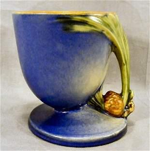 "Roseville blue pinecone pattern vase, 5"" high, no"