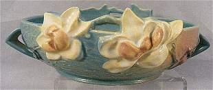 "Roseville Magnolia pattern bowl, #448-8"", small fl"
