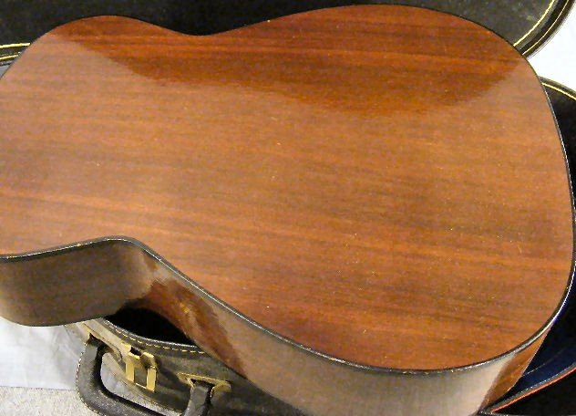 54A: Conqueror acoustic guitar, w/case. Finish/ wood is - 4