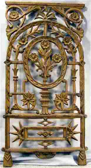 """Cast iron window grate, 32"""" X 16"""""""