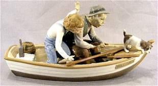 "Lladro figurine ""Fishing with Grandpa"", 15.5"" long"