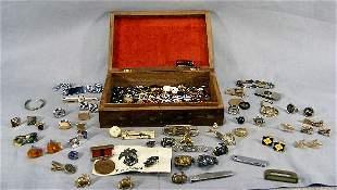Lot of U.S. Marine pins & medals, misc. men's jewe