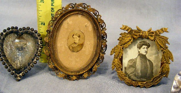 40C: Misc. lot including 3 small Victorian frames, two  - 2