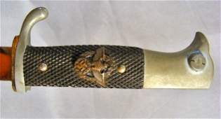 80Y: German 3rd Reich sawback dress bayonet with police