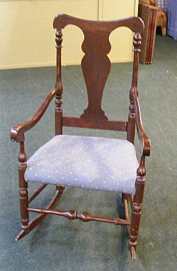 247A: Antique Queen Anne rocking chair.