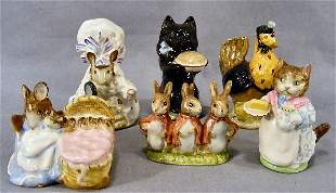 Lot of 6 Beswick Beatrix Potter figurines