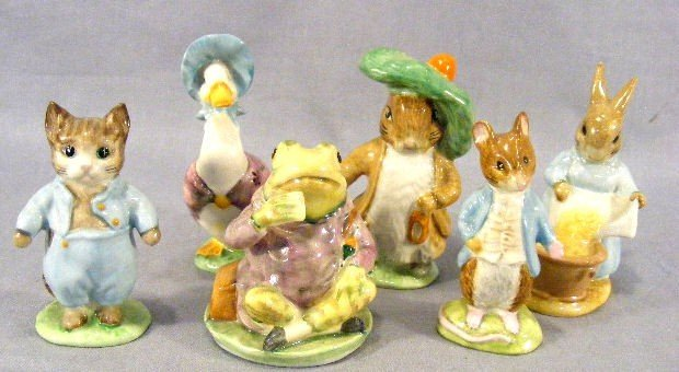 9F: Lot of 6 Beswick Beatrix Potter figurines