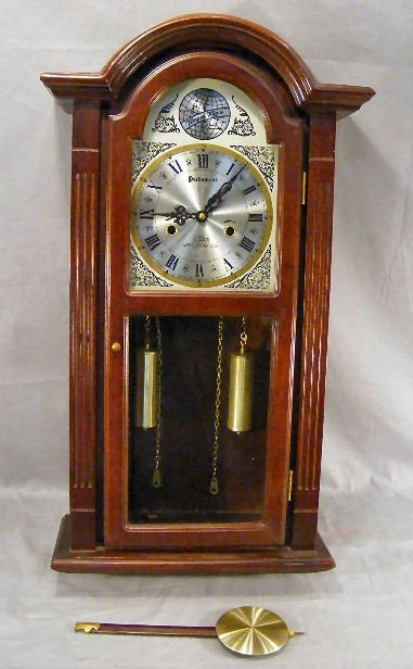 """236D: Parliament 31 Day Chime wall clock. 27"""" tall."""