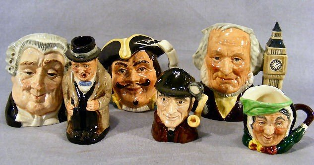 1G: Lot of six Royal Doulton character jugs, The Lawyer