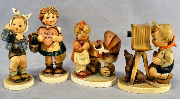 6G: 4 Hummel figurines, 217, 367, 67 and 178