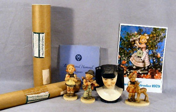 16G: Lot of Hummel items including, M.I. Hummel bust, #