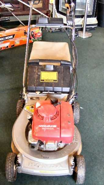 71m Honda Hr215 Sm Lawn Mower Self Propelled Electri See Sold Price