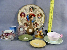 6B: Lot of porcelain including Wedgwood Jasperware [one