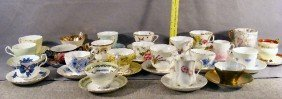 9F: Large lot of cups & saucers including, Stanley, Add