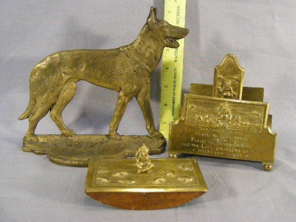 11B: Brass Dartmoor Pixie envelope holder and blotter t