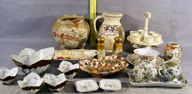 17P: Lot of misc. china including biscuit jar as is, nu