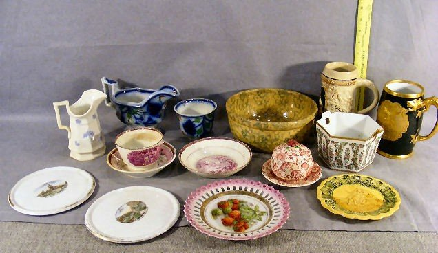 20P: Lot of misc. china & pottery including gaudy gravy