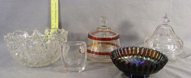 23P: Lot of misc. glass including Swedish vase, carniva