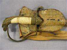 71P: U.S. Militia sword with bone handle and eagle head