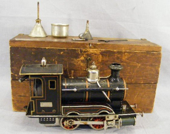 160H: Marklin steam train locomotive in original box,