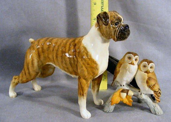 242T: Lot of owl figurines, Andrea, Goebel glass, Erphi - 3