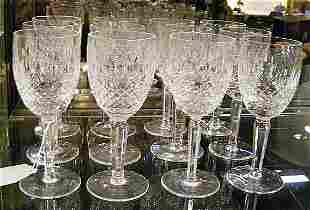 """12 Waterford Colleen pattern 6.5"""" wine glasses all"""