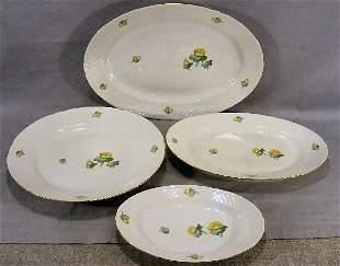 "Bing & Grondahl Erantis pattern - 4 platters, 16"","