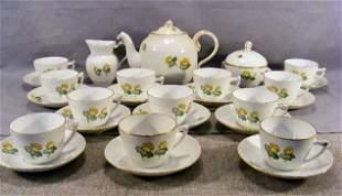 Bing & Grondahl Erantis pattern - teapot, creamer,