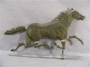 Trotting horse copper weathervane, no directionals