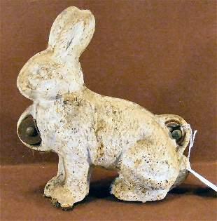 Cast iron rabbit lawn ornament / doorstop mold, pai